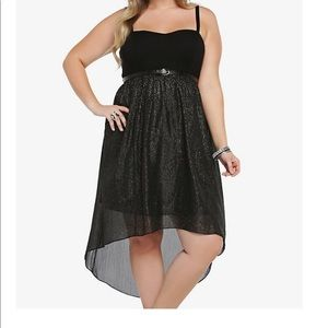 Torrid Sprarkly Hi Low Sweetheart Dress 18
